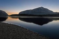湖风景蓝天 图库摄影