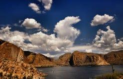 湖风景视图 库存照片