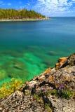 湖风景视图 图库摄影