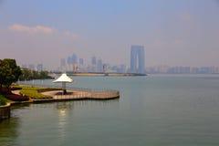 湖风景 免版税图库摄影