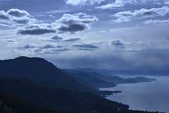 湖风景tahoe视图 库存照片
