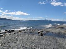 湖风景Usuahia的阿根廷 库存图片