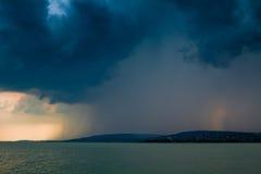 湖风暴 库存照片