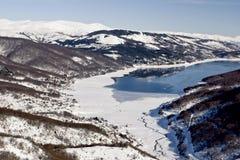 湖马其顿mavrovo 免版税库存图片