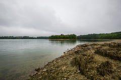 湖马尔堡,在雷暴前的汉诺威宾夕法尼亚 免版税库存图片