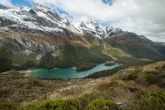 湖麦肯齐 新的routeburn跟踪西兰 免版税库存图片