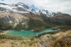 湖麦肯齐 新的routeburn跟踪西兰 免版税图库摄影