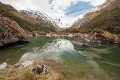 湖麦肯齐 新的routeburn跟踪西兰 图库摄影
