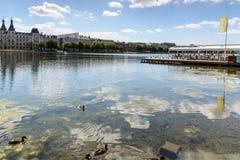 湖,哥本哈根 图库摄影