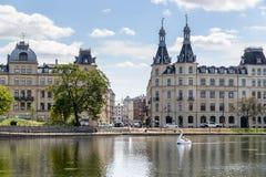 湖,哥本哈根 免版税图库摄影