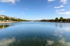 湖,哥本哈根 免版税库存照片