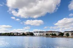 湖,哥本哈根 库存照片