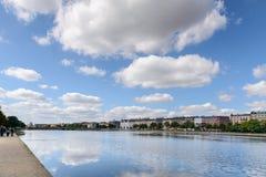 湖,哥本哈根 免版税库存图片