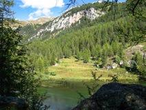 湖,奇迹谷,法国 免版税库存图片