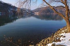 湖,娜米海岛,韩国的平静 免版税库存图片