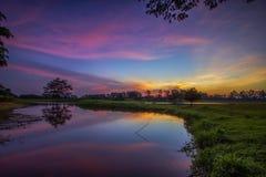 湖,日落,日出,风景,自然, clauds,天空, 库存图片