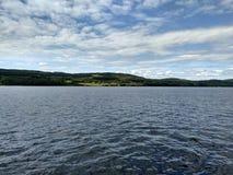 湖,村庄,瑞典 免版税图库摄影