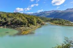 湖,火地群岛国家公园,乌斯怀亚,阿根廷 库存照片