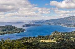 湖,巴里洛切,阿根廷的看法 库存图片