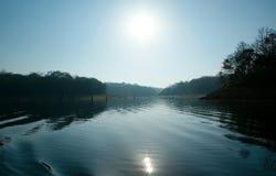 湖, Periyar国家公园,喀拉拉,印度 免版税库存照片