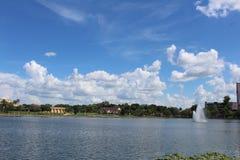 湖水地区的佛罗里达湖 库存图片