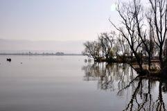 湖阴影 库存照片