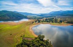 湖水牛城天线全景 维多利亚,澳洲 免版税库存图片