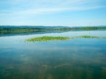 湖绿色 库存照片