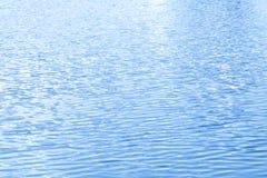 湖水表面波纹 免版税库存照片