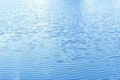 湖水表面蓝色波纹 免版税库存图片