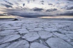 冻结湖 库存照片
