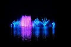 湖Abrau谷  在水的喷泉 库存照片