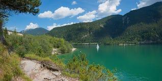 湖achensee提洛尔风景 库存照片
