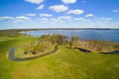 湖Alauksts,拉脱维亚 库存照片