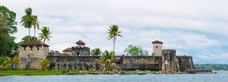湖Amatitlan,危地马拉 库存照片