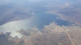 湖Arial视图  图库摄影