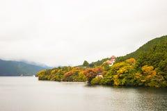 湖ashi在箱根,日本 免版税库存照片