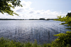 湖Asnen在瑞典 库存照片