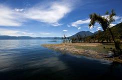 湖Atitlan,危地马拉 图库摄影