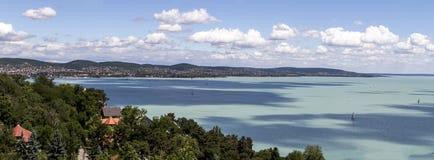 湖baraton在布达佩斯,匈牙利 库存照片