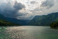 湖Bohinj 免版税库存照片