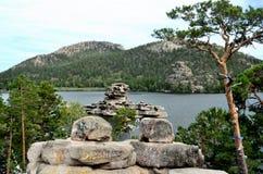 湖Borovoe,陈述全国自然公园 库存照片