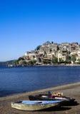湖Bracciano,意大利 免版税图库摄影