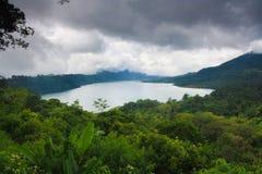 湖Buyan巴厘岛Indonesi 库存图片