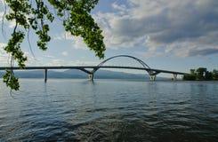 湖champlain桥梁 库存图片