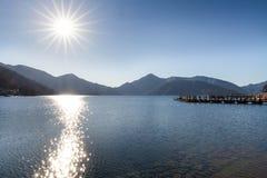 湖Chuzenji 免版税图库摄影