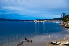 湖Coeur d `的Alene雪松餐馆 库存图片