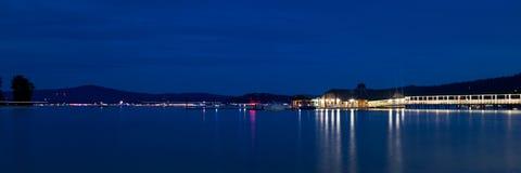 湖Coeur d `的Alene雪松餐馆 图库摄影