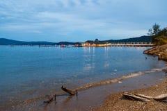 湖Coeur d `的Alene雪松餐馆 免版税库存照片