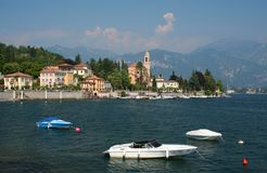 湖Como在北意大利 库存照片